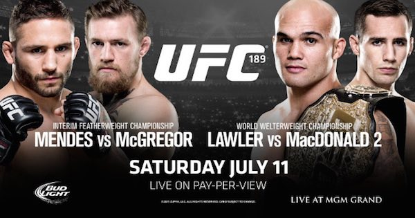 UFC 189 Mendes-vs McGregor