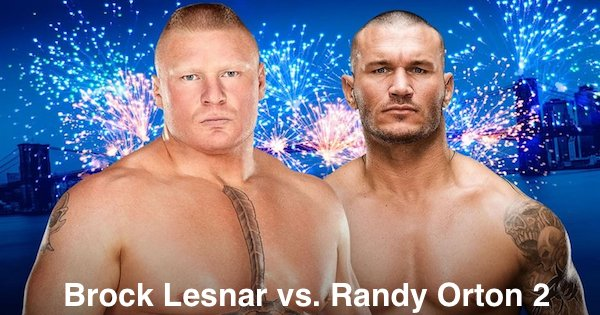 Watch Brock Lesnar vs. Randy Orton 2 9/24/16