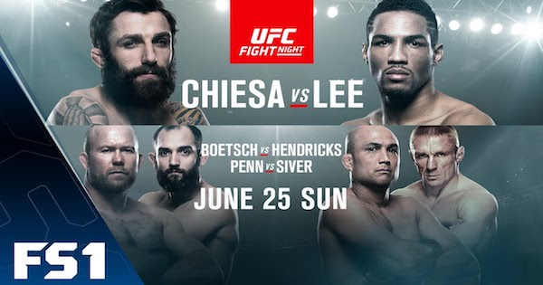 Watch UFC Fight Night 112: Chiesa vs. Lee