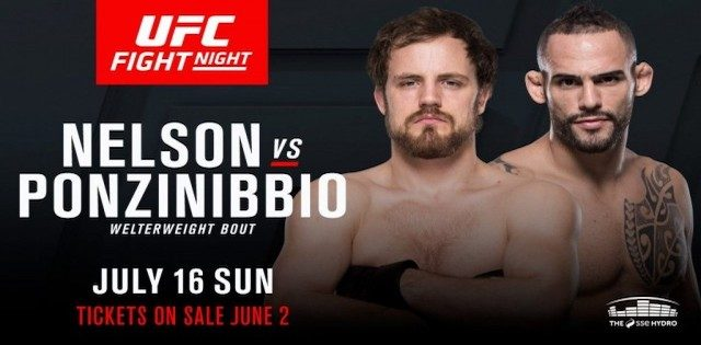 Watch UFC Fight Night 113: Nelson vs. Ponzinibbio