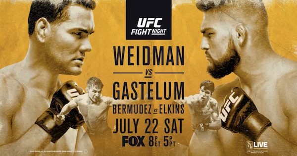 Watch UFC on Fox 25: Weidman vs. Gastelum