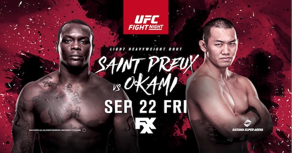 Watch UFC Fight Night 117: Saint Preux vs. Okami