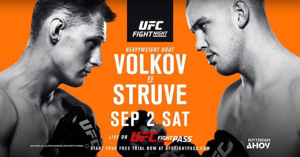 Watch UFC Fight Night 115: Volkov vs. Struve