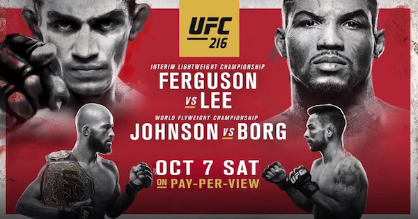Watch UFC 216: Ferguson vs. Lee