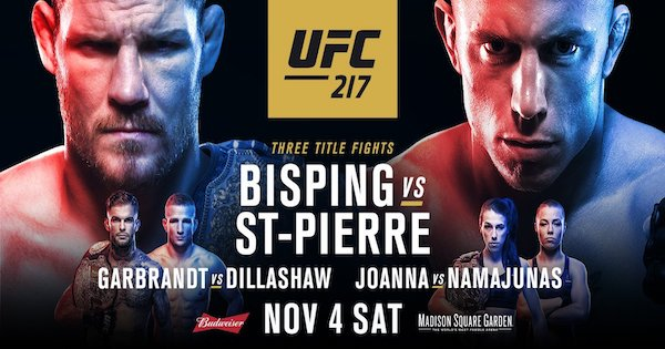 Watch UFC 217: Bisping vs. St-Pierre