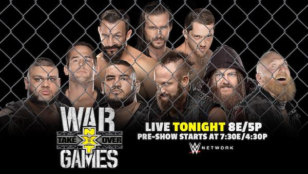 Watch WWE NXT TakeOver: WarGames 2017 11/18/17