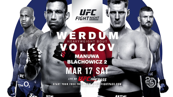 Watch UFC Fight Night 127: Werdum vs Volkov