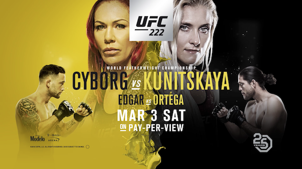 Watch UFC 222: Cyborg vs. Kunitskaya