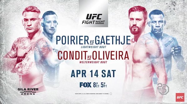 Watch UFC on Fox 29: Poirier vs. Gaethje
