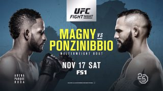 Watch UFC Fight Night 140: Magny vs. Ponzinibbio