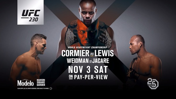 Watch UFC 230: Cormier vs. Lewis