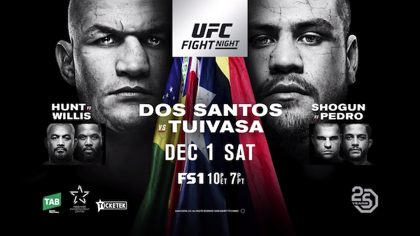 Watch UFC Fight Night 142: Dos Santos vs. Tuivasa