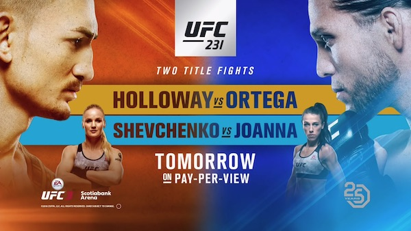 Watch UFC 231: Holloway vs. Ortega