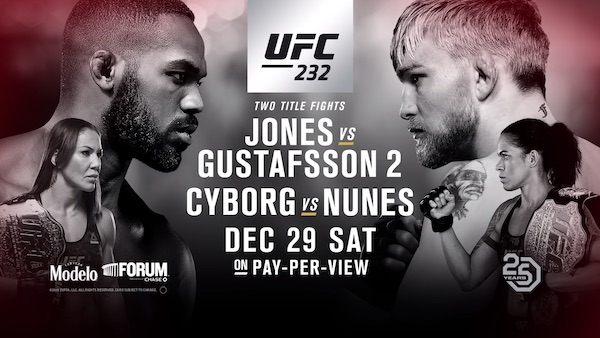 Watch UFC 232: Jones vs. Gustafsson 2